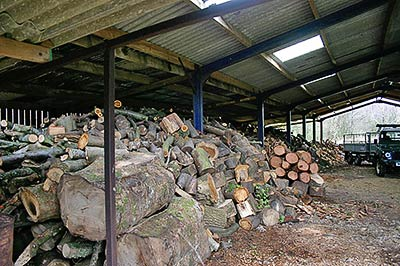 firewood logs ready for delivery in north wales